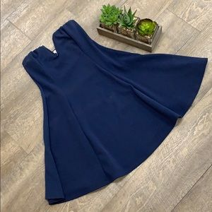 Charlotte Russe Navy Strapless Dress